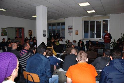 L'assemblea verso il primo marzo lancia la generalizzazione dello sciopero