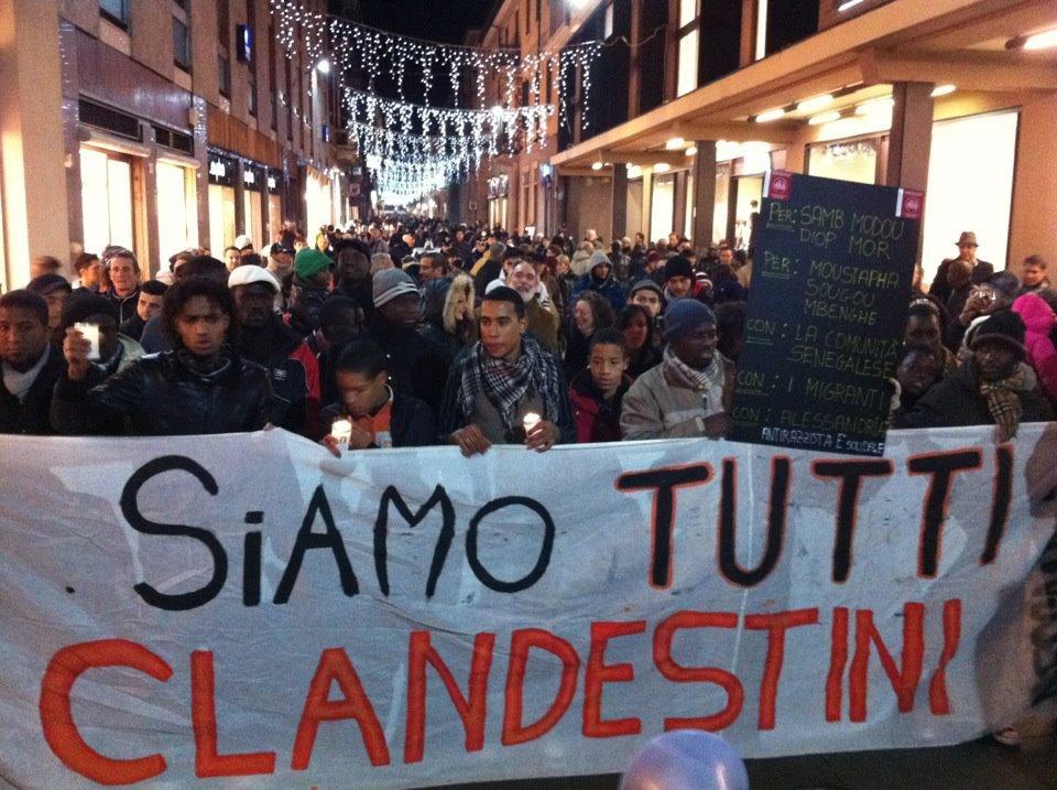 Centinaia di migranti e alessandrini manifestano contro il razzismo