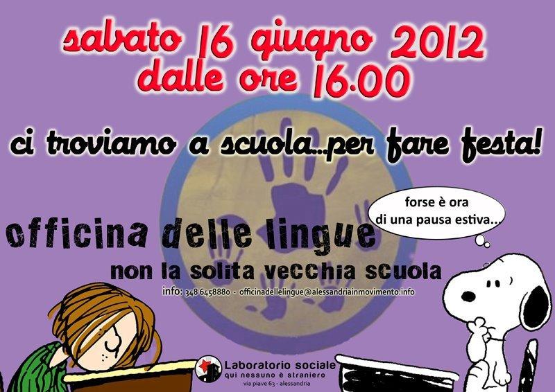 Festa di chiusura dei corsi della scuola di italiano