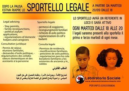 Riapre lo Sportello Legale per migranti