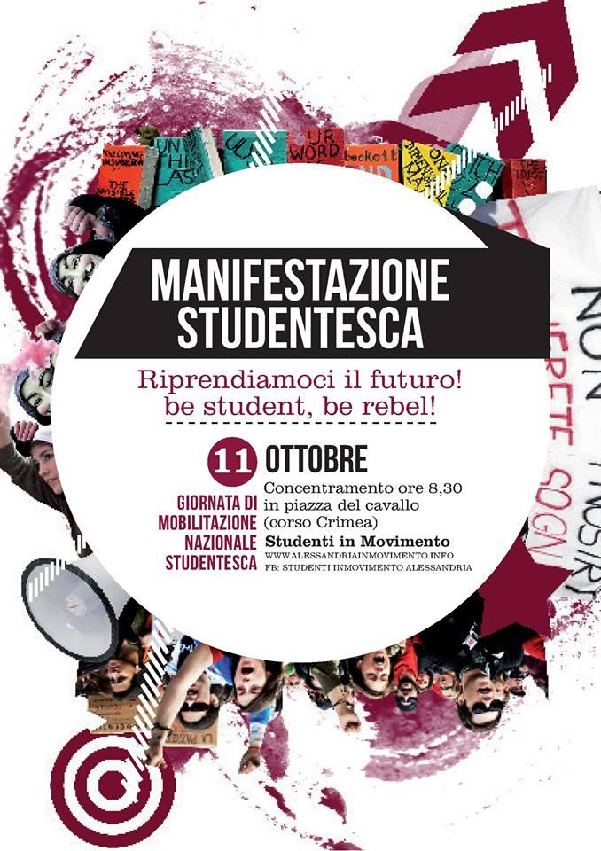 Venerdì 11 Ottobre Manifestazione Studentesca – Be Student, be rebel!