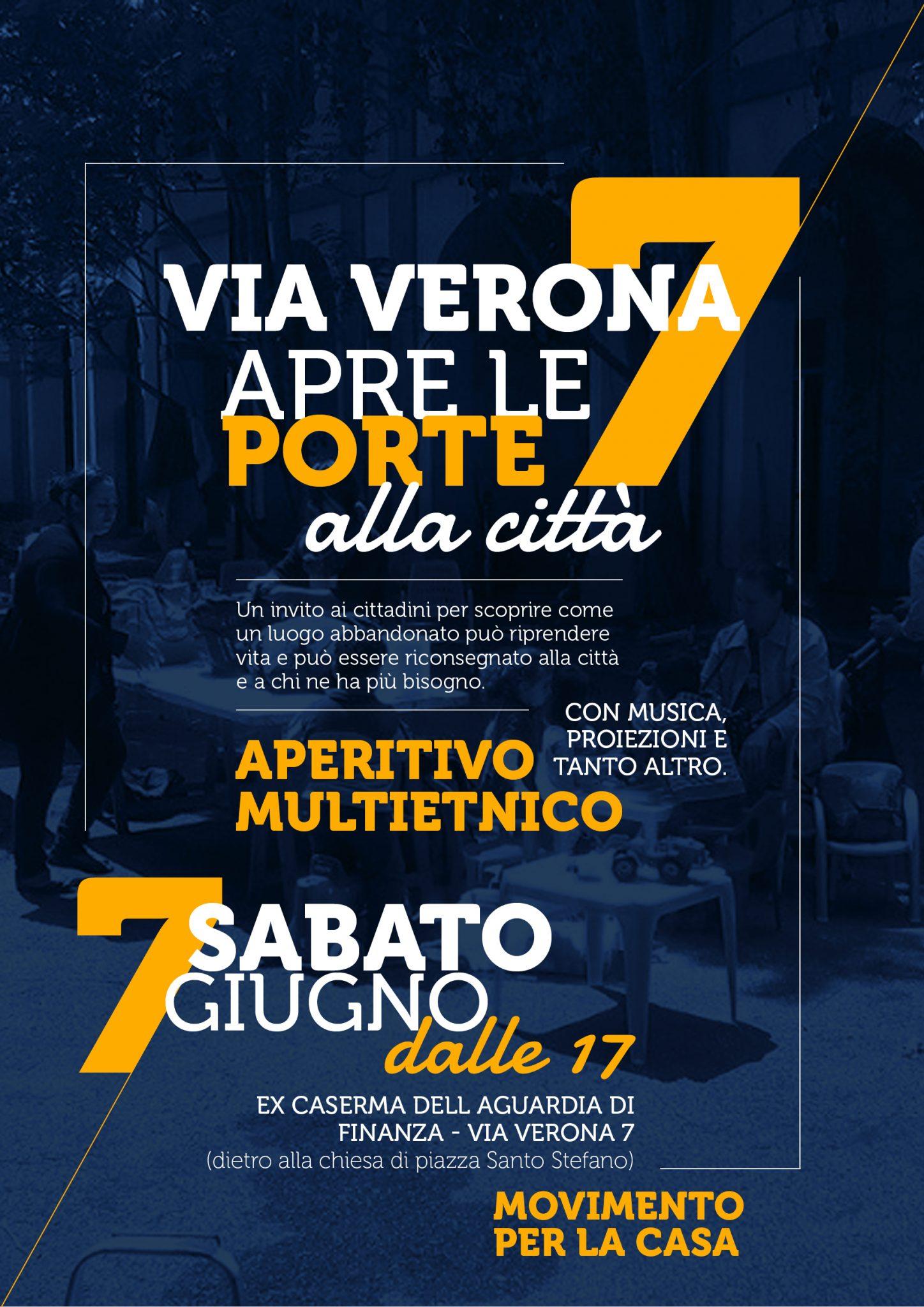 Sabato 7 Giugno – Via Verona 7 apre alla città!
