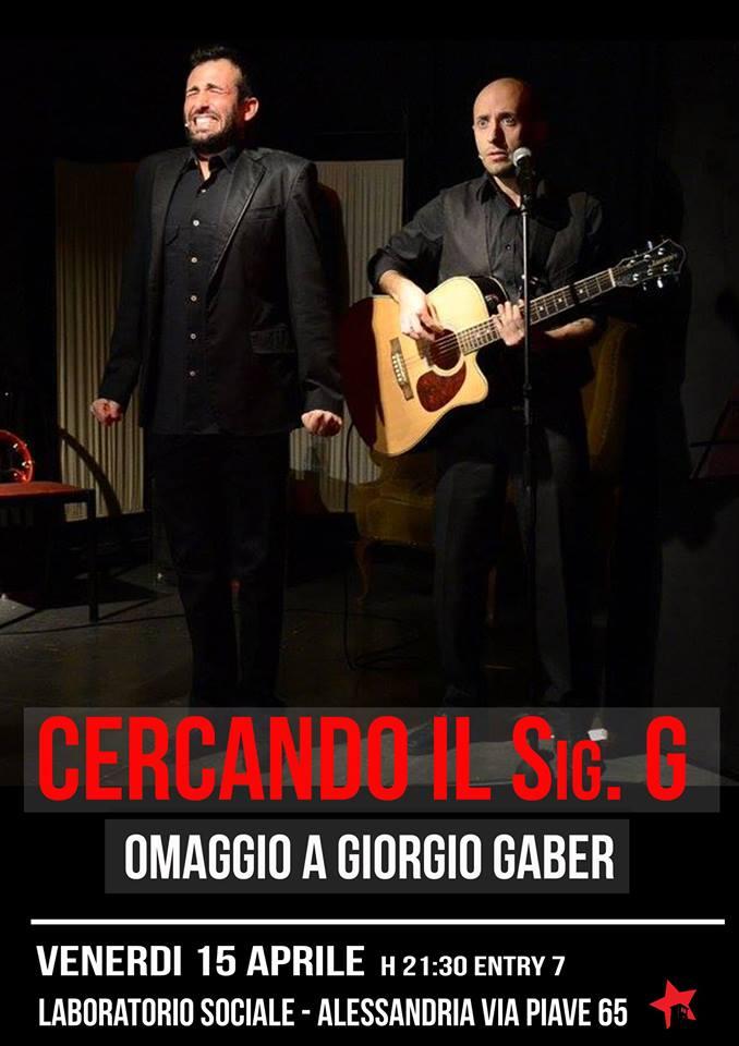 Venerdì 15 aprile al Laboratorio Sociale omaggio a Giorgio Gaber