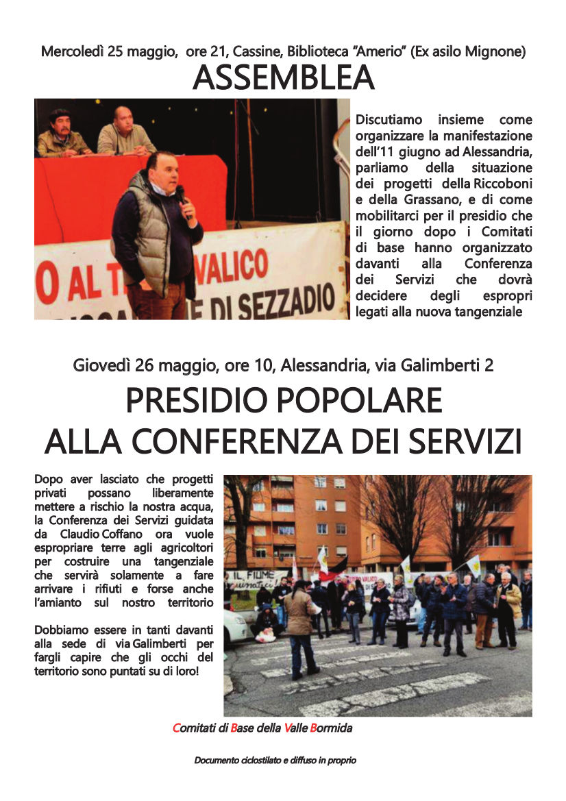 Mercoledì assemblea a Cassine, giovedì tutti alla conferenza dei servizi ad Alessandria
