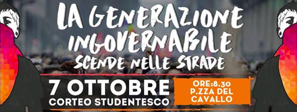 Venerdì 7 ottobre manifestazione studentesca ad Alessandria