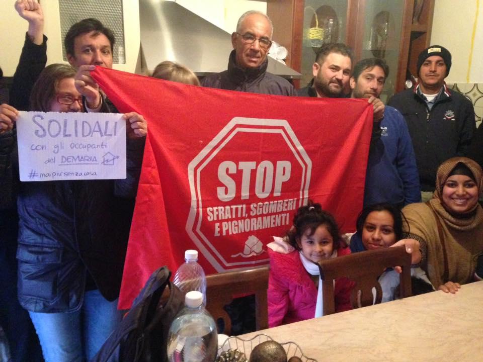 Bloccato un altro sfratto a Spinetta con il cuore a Bologna