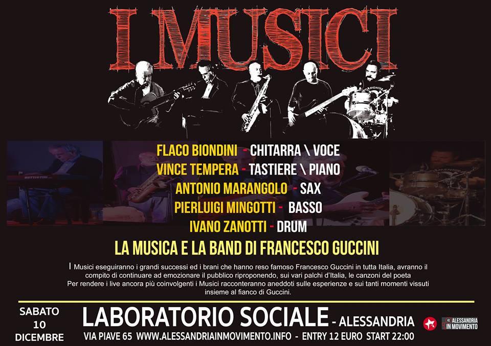 Sabato 10 dicembre la band e la musica di Guccini al Laboratorio Sociale