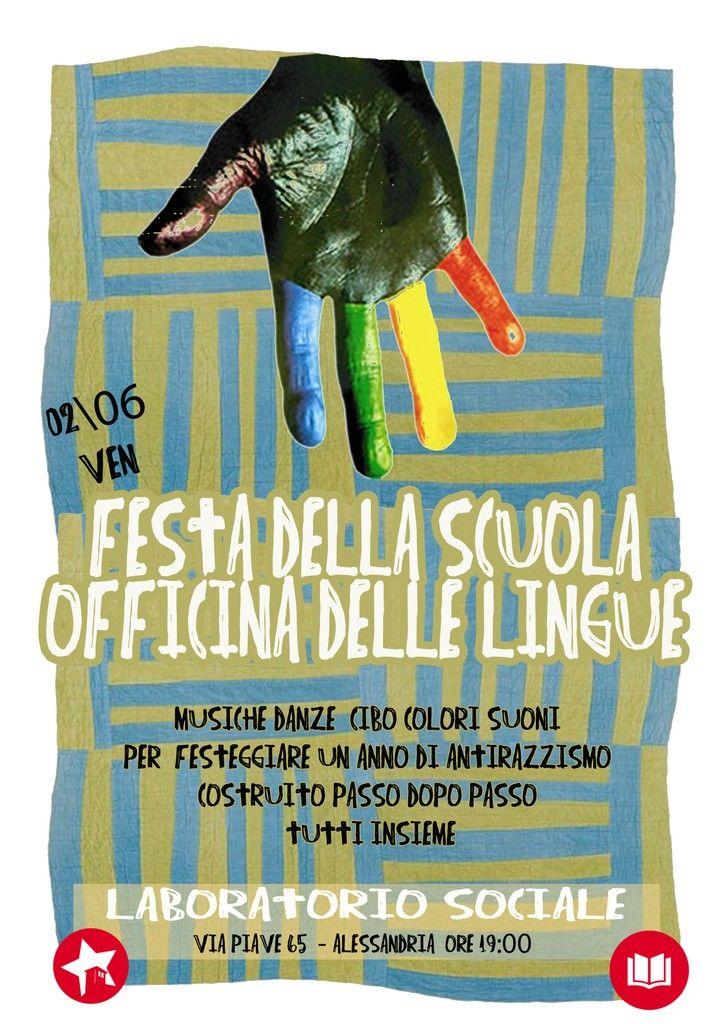 """Venerdì 2 giugno festa della scuola """"Officina delle Lingue"""""""