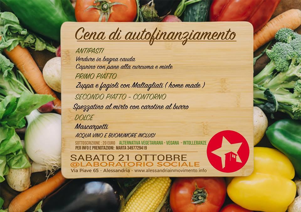 21 ottobre: cena ribelle d'autunno al Laboratorio Sociale
