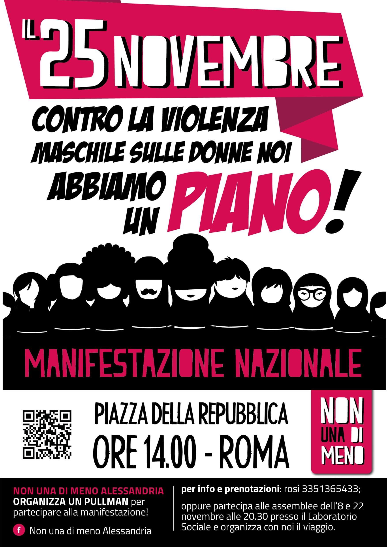 Manifestazione Nazionale a Roma il 25 novembre: Abbiamo un Piano!