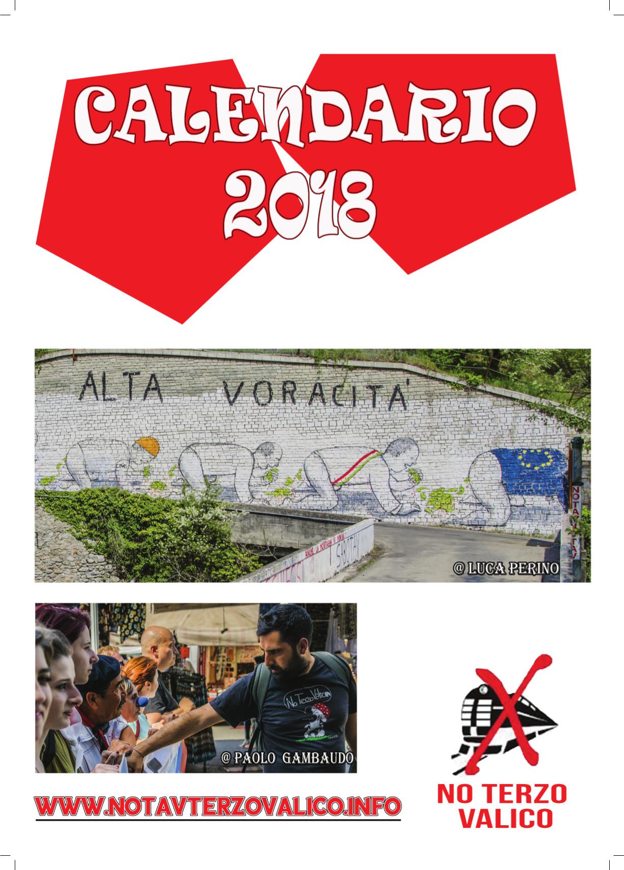 E' disponibile il calendario No Terzo Valico 2018