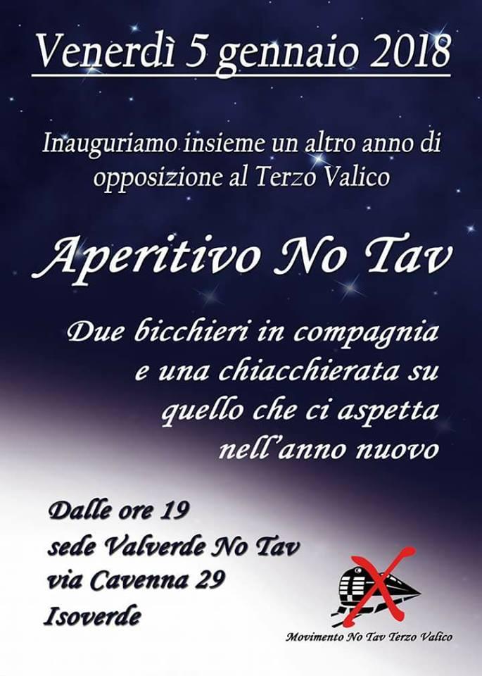 Venerdì 5 gennaio aperitivo No Tav a Isoverde