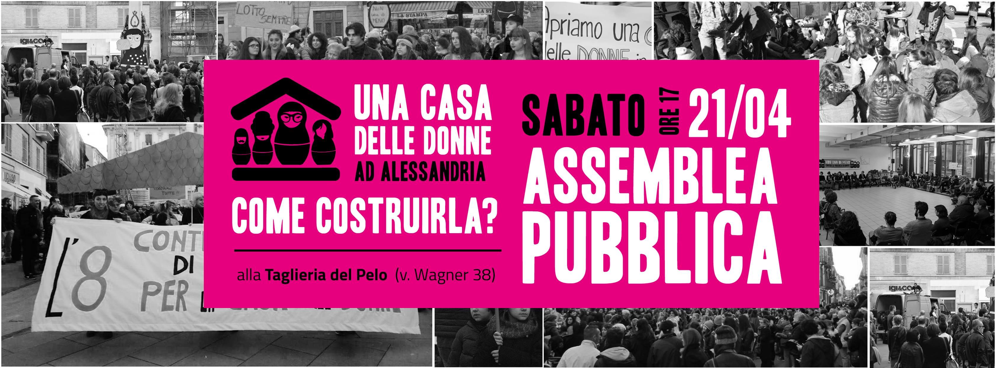 Sabato 21 aprile assemblea pubblica verso la Casa delle Donne di Alessandria