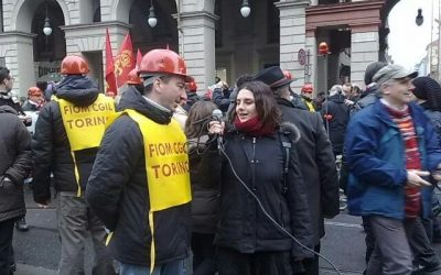 Torino – Decine di migliaia in corteo con la Fiom