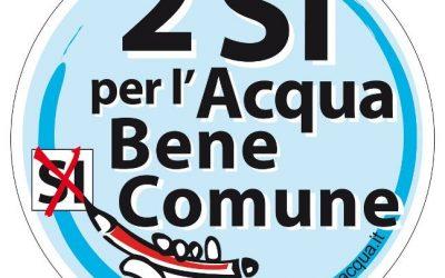 Alessandria – Parte la campagna del comitato due sì per l'acqua bene comune