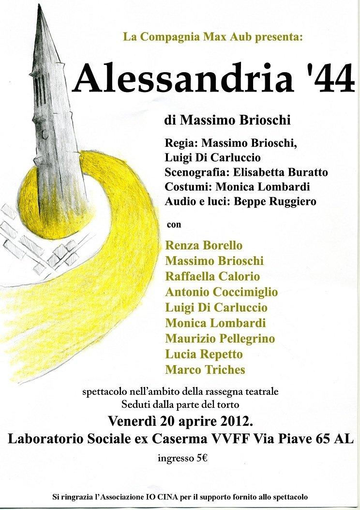 Venerdì 20 Aprile Max Aub presenta Alessandria '44