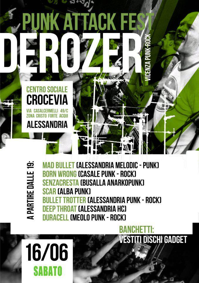 Sabato 16 Giugno Derozer \\ Punk Attak Fest @ CSOA Crocevia