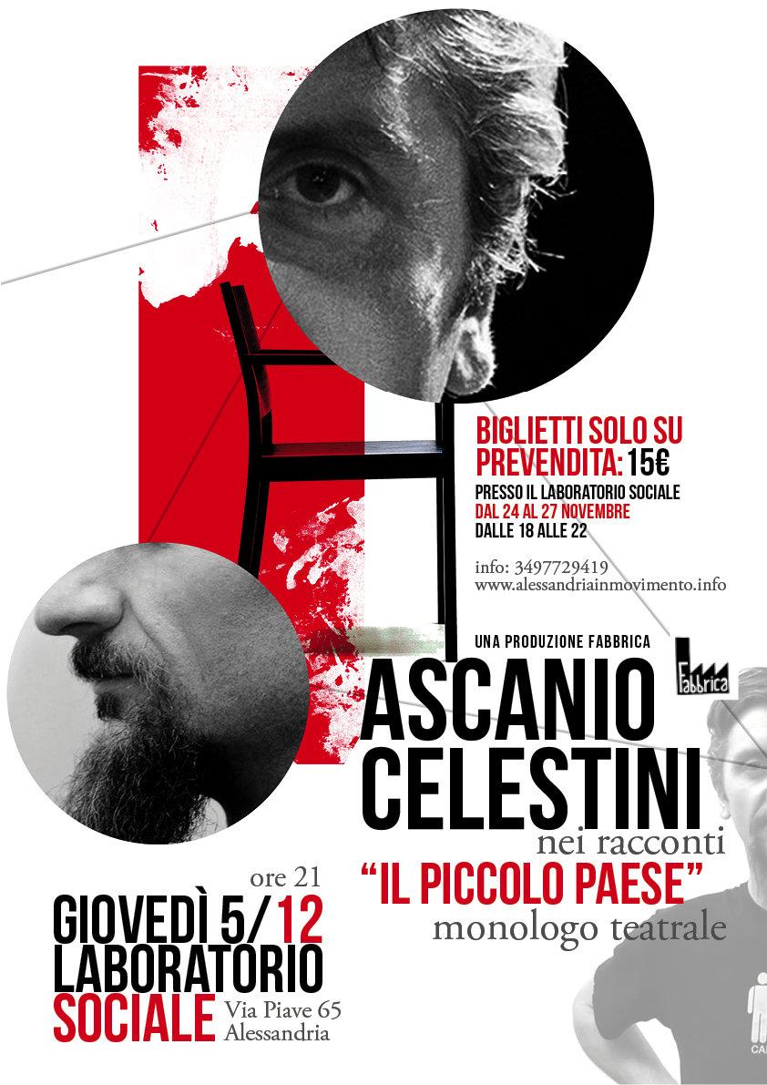 Giovedi 5 dicembre anche Ascanio Celestini a sostenere il Laboratorio Sociale