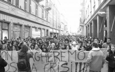 Riprendiamoci lo sciopero – Alessandria – 5.000 in corteo, occupata Scienze Politiche