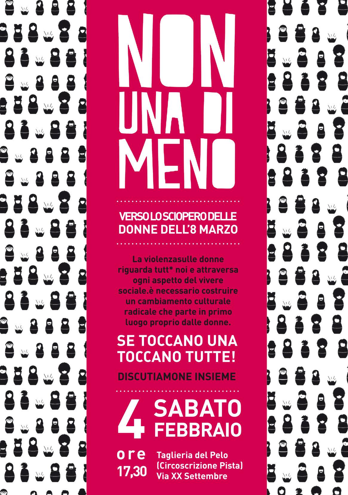 Non Una di Meno – Assemblea pubblica verso lo sciopero delle donne dell'8 Marzo