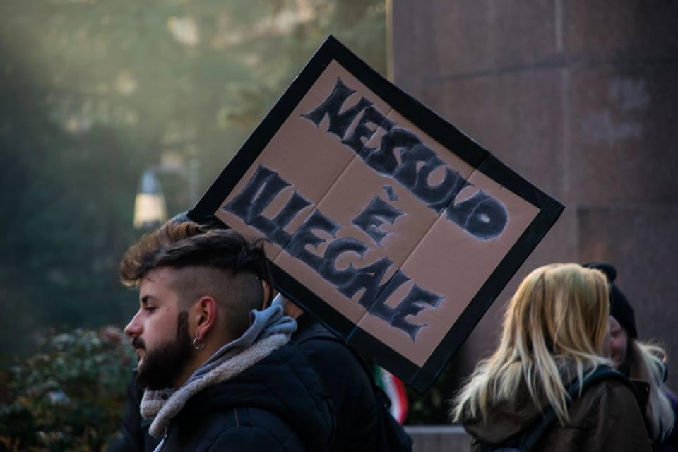 Gli studenti di Alessandria in piazza contro il razzismo