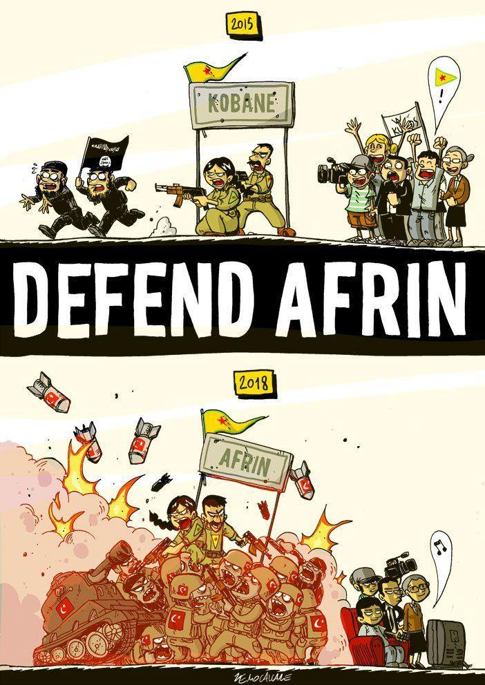 Presidio per Afrin davanti alla Prefettura giovedì 22 marzo