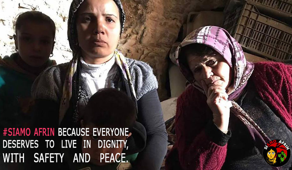 """""""SiAmoAfrin"""", per le popolazioni colpite dalla guerra in Rojava"""