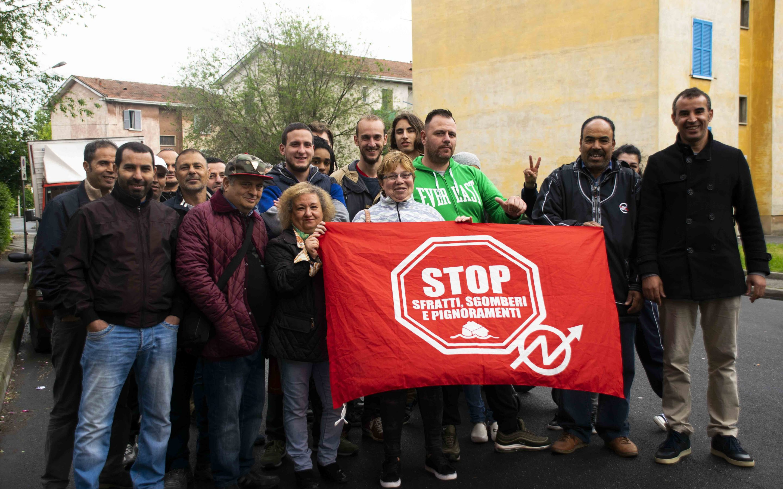 Il Movimento per la Casa inizia il mese di maggio con il blocco di due sfratti