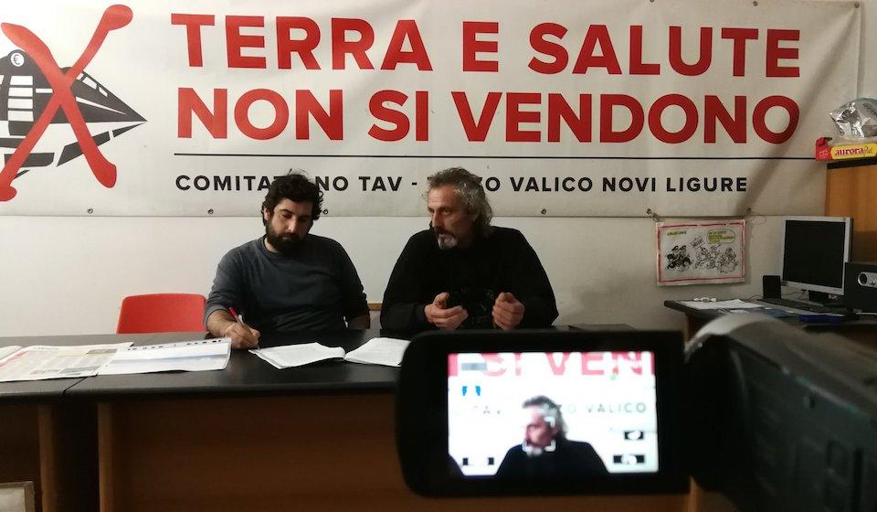 La conferenza stampa del movimento No Tav sul contratto di governo Di Maio – Salvini