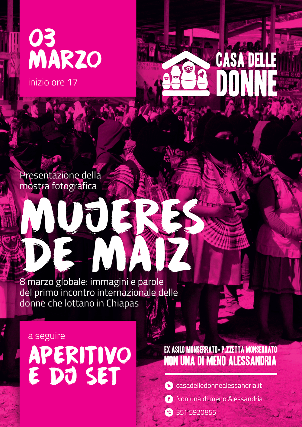 """3.3.2019 – Mostra fotografica """"Mujeres de maiz"""" sul Primo Incontro delle Donne che Lottano in Chiapas"""