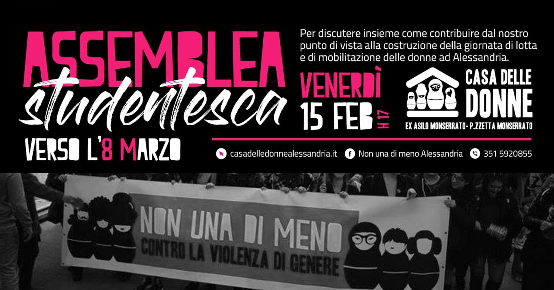 15.2.2019 – Assemblea studentesca verso l'8 Marzo