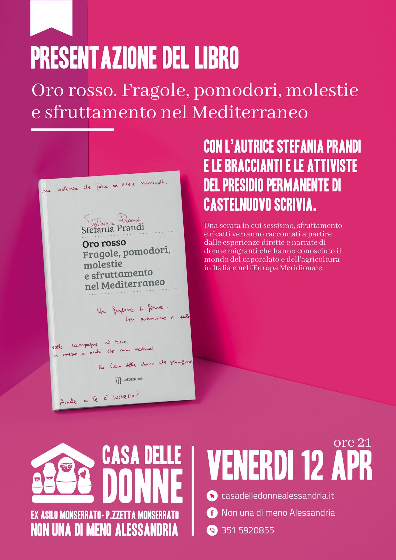 """12.4.2019 – Presentazione del libro-inchiesta """"Oro rosso"""" di Stefania Prandi"""