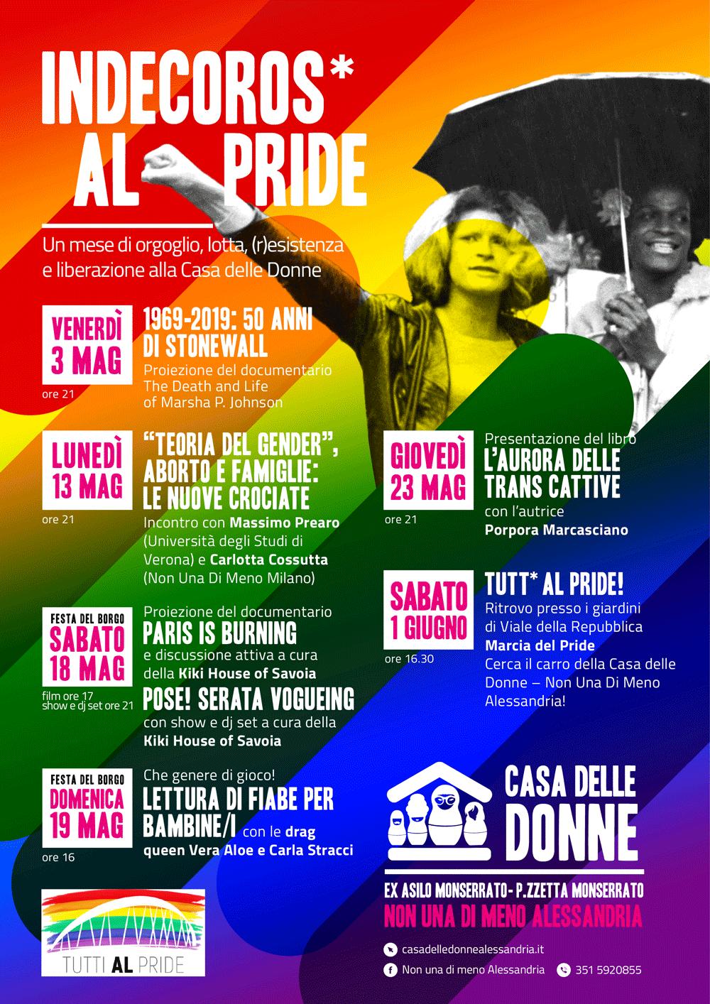 Indecoros* Al Pride! Un mese di eventi alla Casa delle Donne