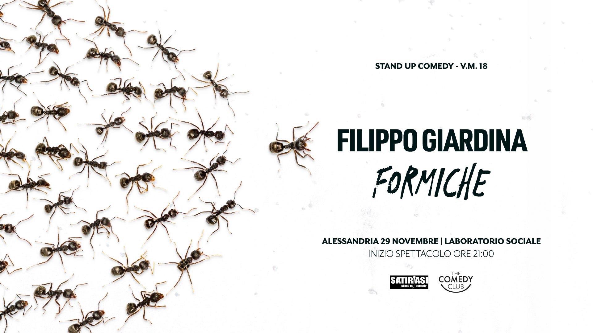 Il pioniere della stand up comedy, Giardina, al Laboratorio il 29 novembre