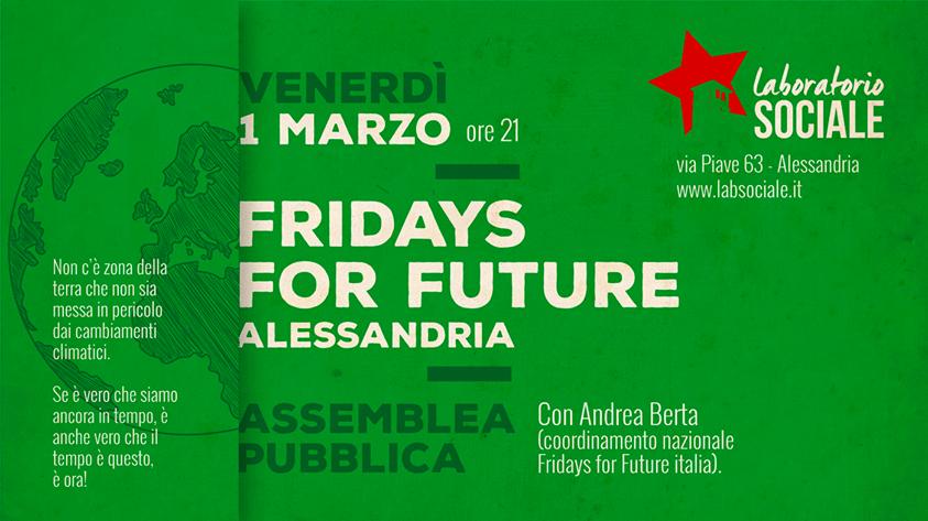 Venerdì 1 marzo assemblea pubblica di Fridays For Future