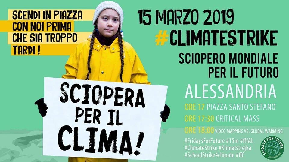 Venerdì 15 marzo sciopero globale per il clima