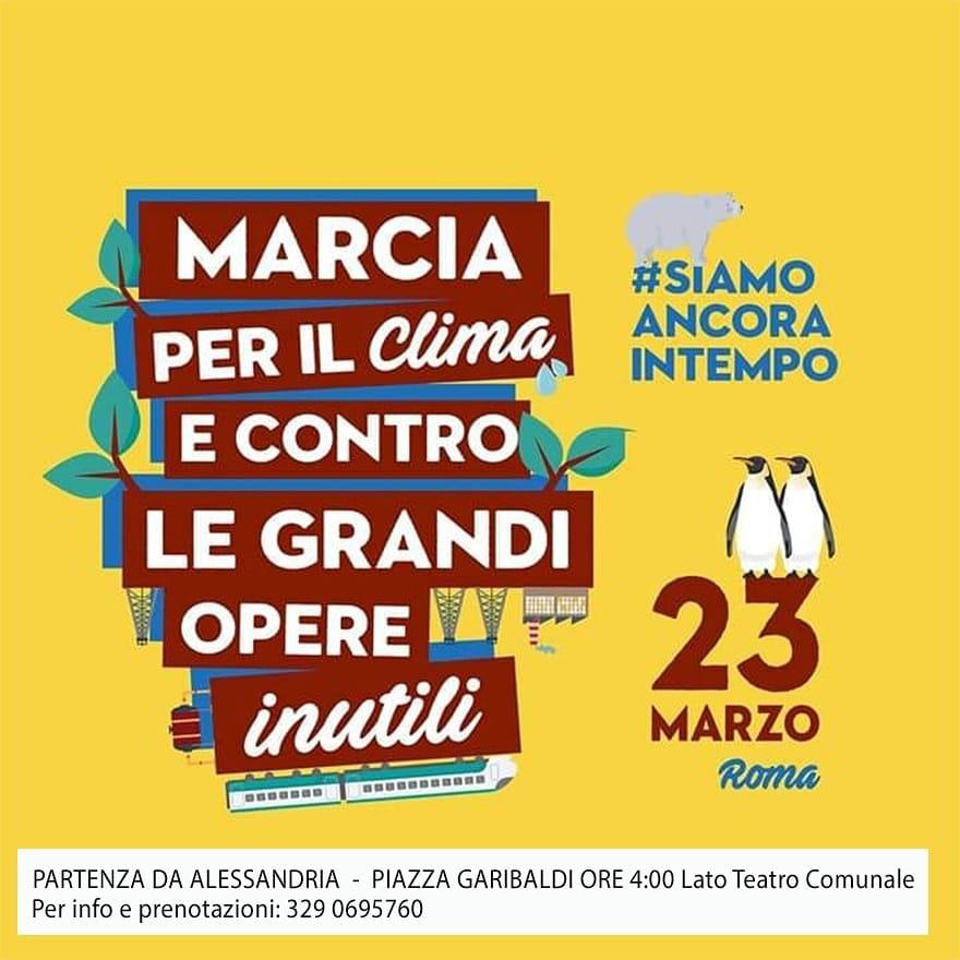 Il 23 marzo marcia per il clima e contro le grandi opere