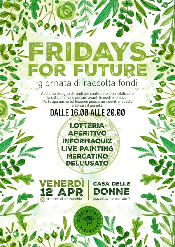 Venerdì 12 aprile giornata di raccolta fondi per Fridays For Future