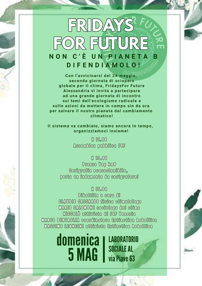 Domenica 5 maggio convegno di Fridays For Future