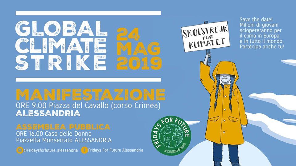 Venerdì 24 maggio secondo sciopero globale per il clima