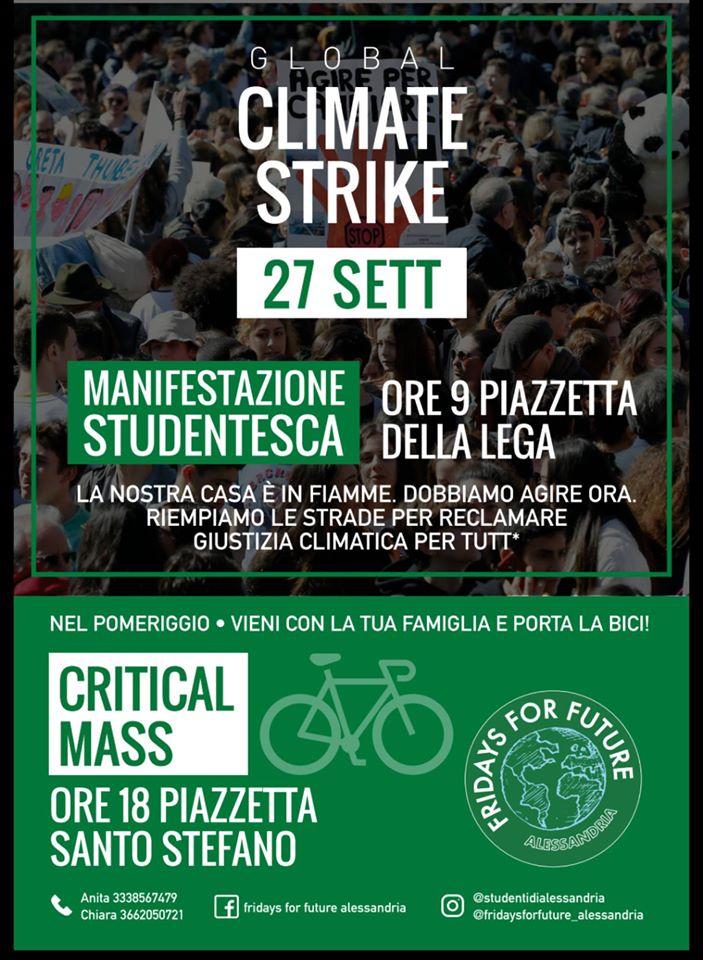 Venerdì 27 settembre terzo sciopero globale per il clima