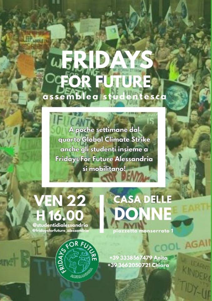 Venerdì 22 novembre assemblea studentesca verso il climate strike