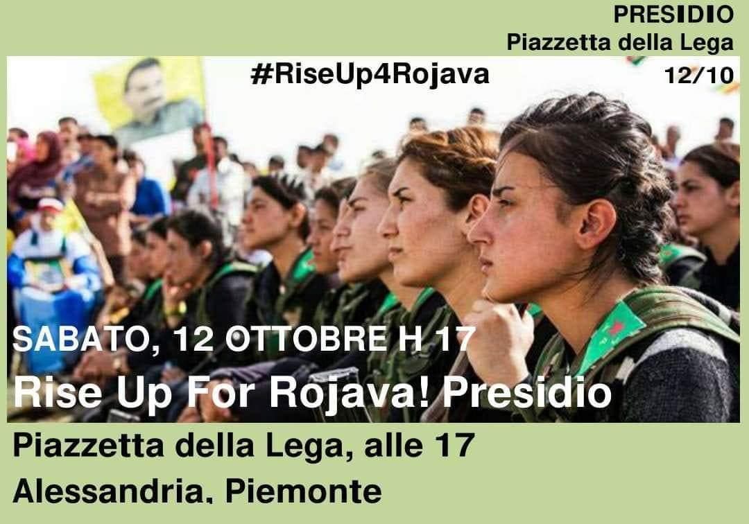 Sabato 12 ottobre in piazza a fianco della resistenza del Rojava