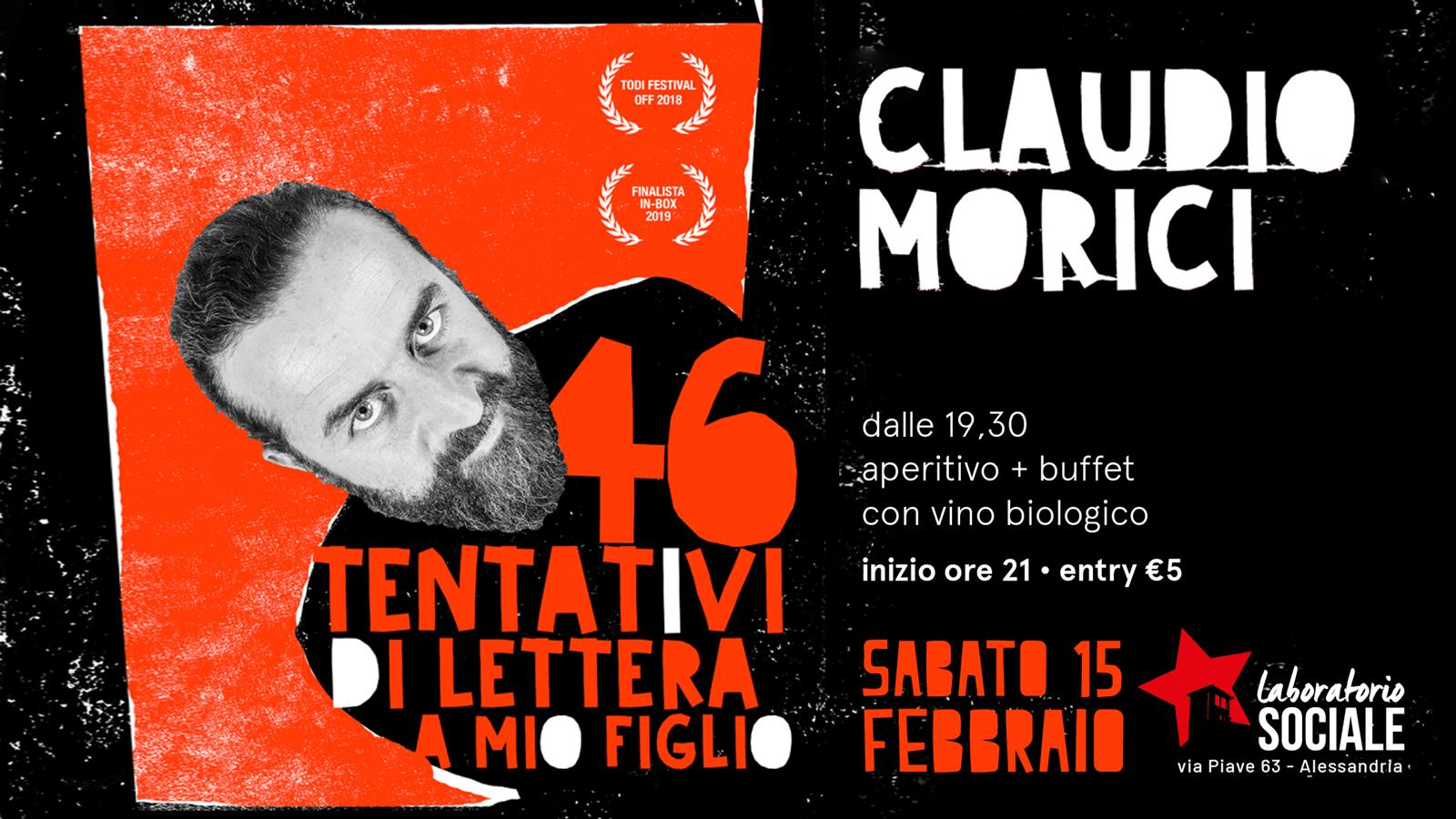 """Morici torna al Laboratorio con """"46 tentativi di lettera a mio figlio"""""""