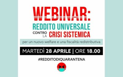 Webinar: reddito universale contro la crisi sistemica