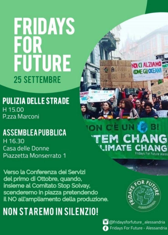 Venerdì 25 settembre iniziativa e assemblea di Fridays For Future
