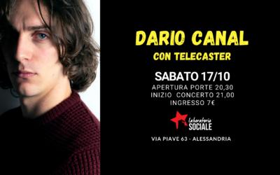 Sabato 17 ottobre, Dario Canal e la sua Telecaster