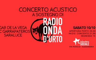 Sabato 10 ottobre il concerto a sostegno di Radio Onda d'Urto